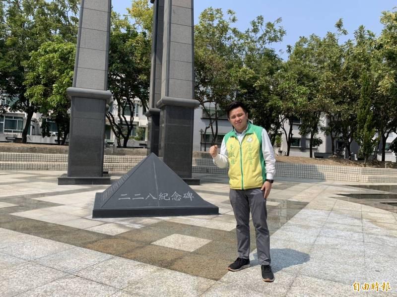 228事件受難人數至今仍是個謎,南市議員李啟維(圖中)呼籲政府清查當時人口異常變動。(記者王姝琇攝)