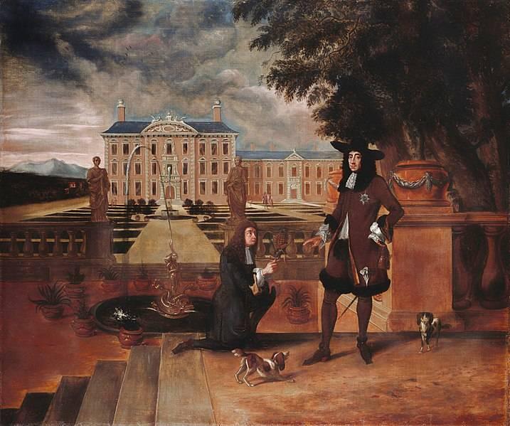 英王查理二世因為受贈一顆鳳梨,特地請畫師繪製油畫紀念。(翻攝維基百科)
