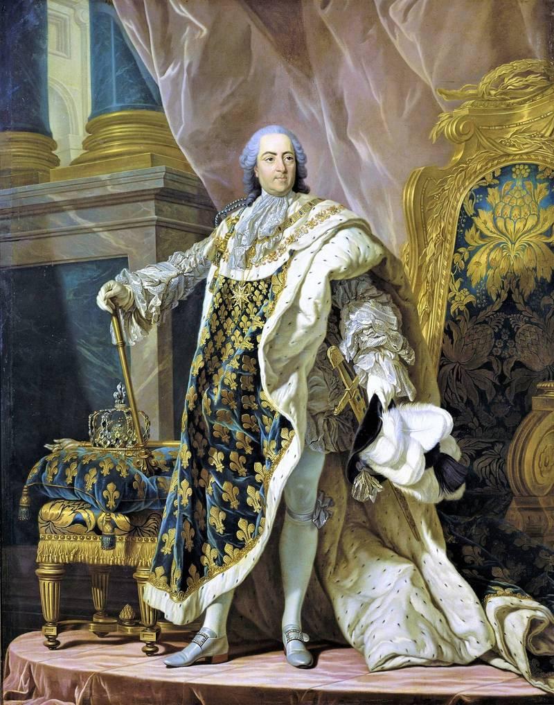 路易十五用鳳梨當成裝飾王座的主題。(翻攝維基百科)
