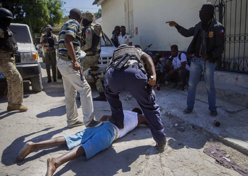 海地囚犯逃獄後在附近被警方逮捕。(美聯社)