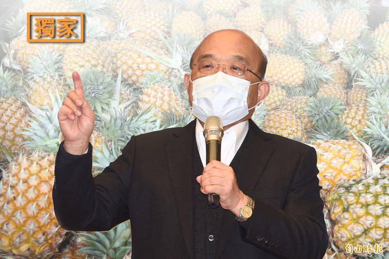 行政院將大動作媒合業界採購台灣鳳梨,行政院長蘇貞昌明天將到屏東挺鳳梨農。示意圖。(本報合成)