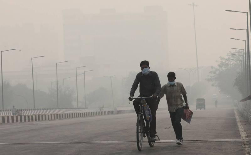 針對印度德里的最新研究發現,當地空氣出現了數量龐大的氯化物懸浮微粒。(歐新社)