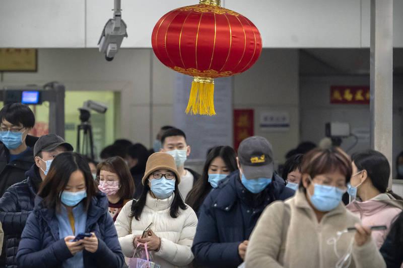 中國昨增境外確診10例,無症狀感染者8例。(美聯社)