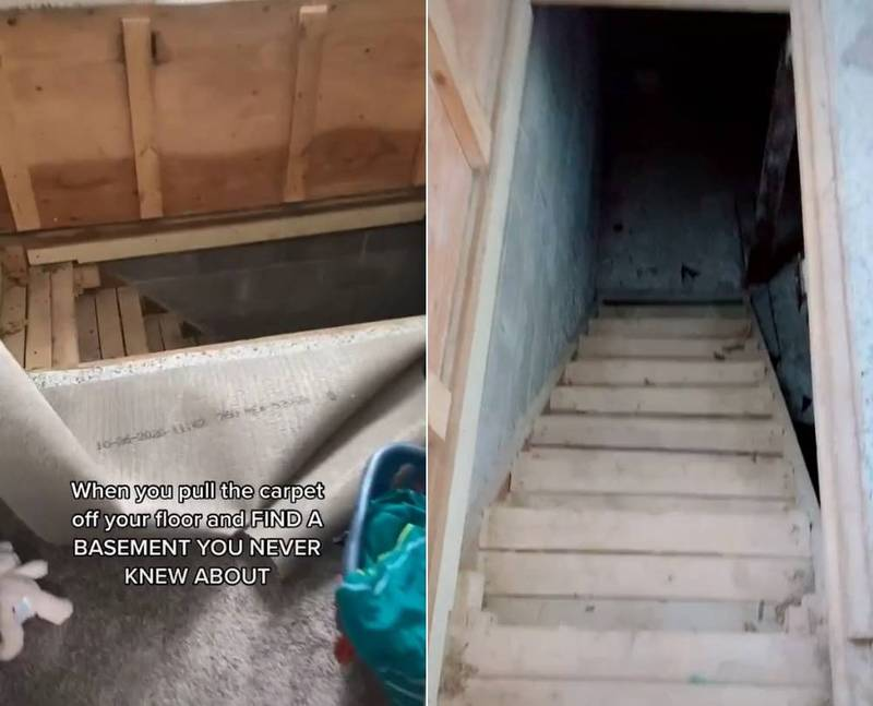 英女拉起自家地毯赫見「神秘入口」 爬下去驚見「恐怖地下室」
