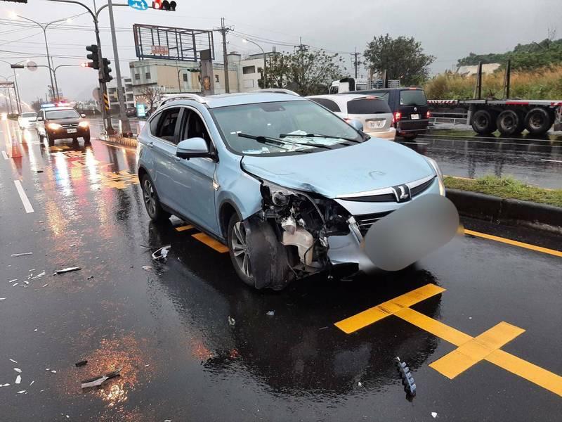省道台九線173公里處,亦即花蓮縣新城鄉順安段昨傍晚發生一起死亡車禍,騎電動車的老翁與汽車擦撞。(記者王錦義翻攝)