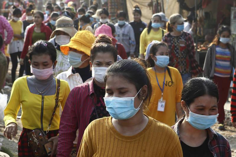 柬埔寨卫生部今通报,该国昨新增39例确诊,确诊患者包括24名中国人、6名越南人和9名柬埔寨人,这39例中有35例与20日社区感染有关。(美联社)(photo:LTN)