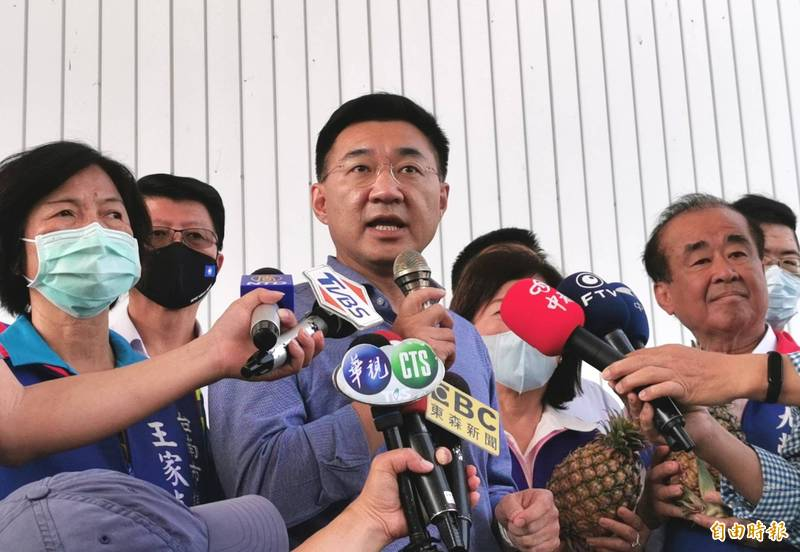 藻礁公投連署達門檻,國民黨主席江啟臣認為政府不該操弄成藍綠對決。(記者吳俊鋒攝)