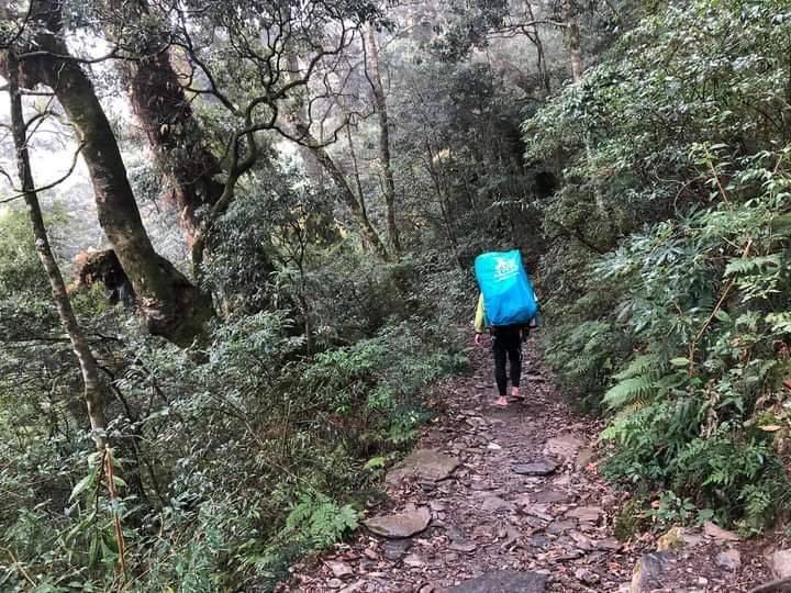 北大武山步道是體力考驗,上山前一定要做好體能鍛鍊。(檜谷山莊莊主吳德發提供)