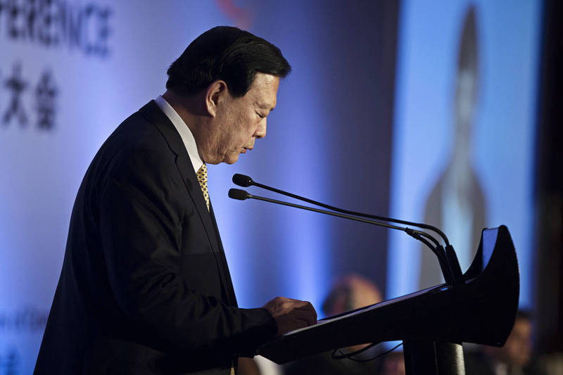 港澳办主任夏宝龙上月22日视讯方式出席全国港澳研究会网上研讨会,这是他去年2月上任以来首次公开讲话。(彭博)(photo:LTN)