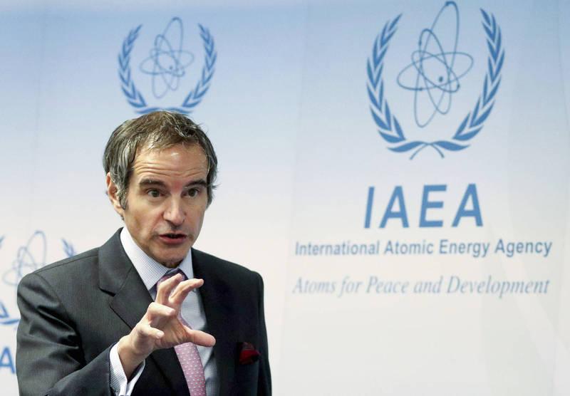 國際原子能總署(IAEA)署長格羅西(Rafael Mariano Grossi)於會議上指出,北韓部分核能設施仍有運轉跡象。(美聯社)