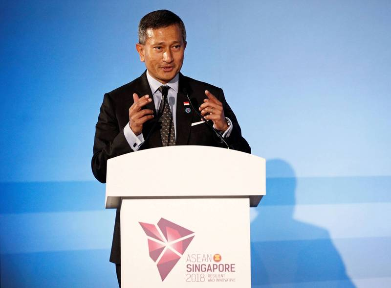 新加坡外交部長維文(Vivian Balakrishnan)1日要求緬甸軍政府立即釋放緬甸總統溫敏(Win Myint)、國務資政兼外長的翁山蘇姬。(路透資料照)