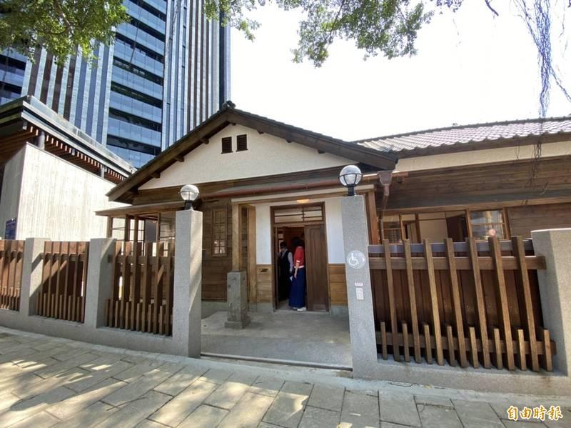 松山療養所員工宿舍外觀,目前尚未對外開放。(記者楊心慧攝)