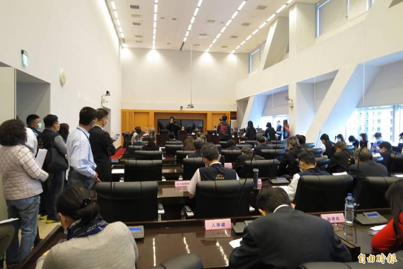 市議會程序委員會通過15日召開臨時會。(記者蘇金鳳攝)