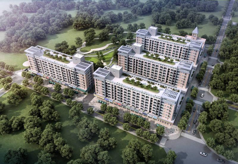 彰化縣政府計畫在伸港百甲重劃區興建青年住宅的示意圖。(彰化縣政府提供)