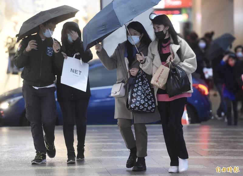 中央氣象局指出,今天(3日)北台灣氣溫仍偏涼,且有局部雨。(資料照)