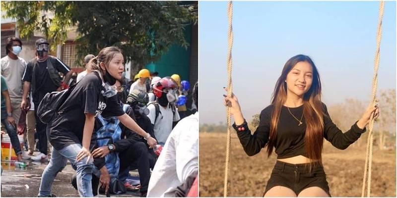 緬甸19歲華裔少女鄧家希今在街頭遭軍警射殺身亡。(圖取自鄧家希臉書)