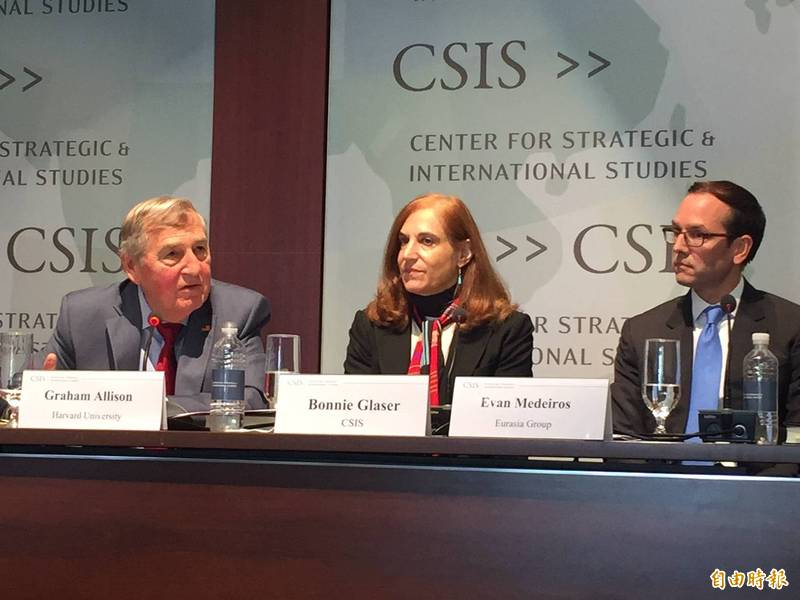 Bonnie Glaser, a senior researcher at the Center for Strategic and International Studies (CSIS), a US think tank.  (Middle) (data photo)