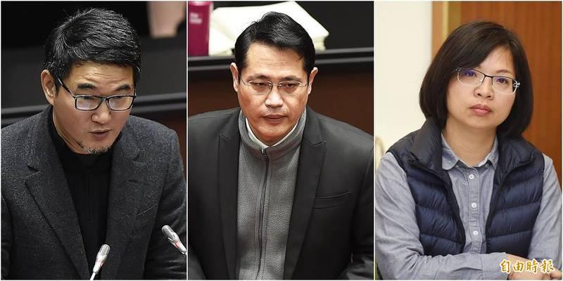 民進黨團跑票的三位立委最終負責的委員會出爐。林淑芬(右)被分配在外交國防,江永昌(中)、劉建國(左)則在司法法制委員會。(資料照)