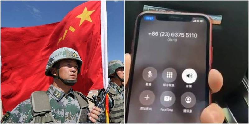Wang Jingyu, a Chinese young man living overseas, questioned the number of deaths and injuries in the Sino-Indian conflict and was wanted by the Chinese. He dialed the overseas phone to ask the Chinese police about the cause and charges, but the police did not say that he only skipped the needle and asked him to surrender to his country.  (The picture on the left is AFP, the picture on the right is taken from Wang Jingyu's Twitter)