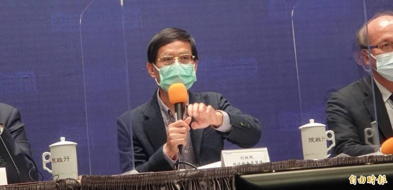 行政院政務委員林萬億表示,勞保破產時間緊迫,依承諾撥補勞保基金。(記者李欣芳攝)