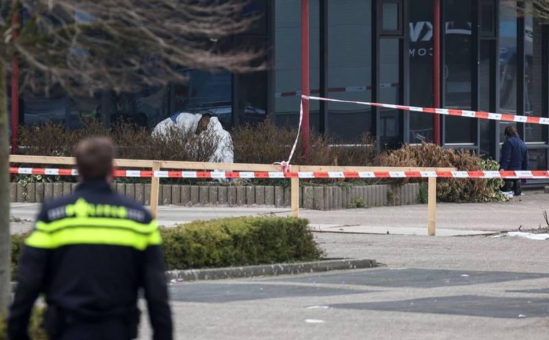 荷蘭一處武漢肺炎檢測中心昨日驚傳爆炸。(法新社)