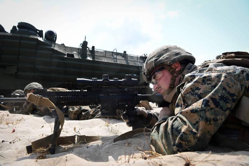 美媒報導,美國海軍陸戰隊計畫調整兵力結構,首次將俄羅斯威脅降至與伊朗、北韓和極端組織同級。(法新社資料照)