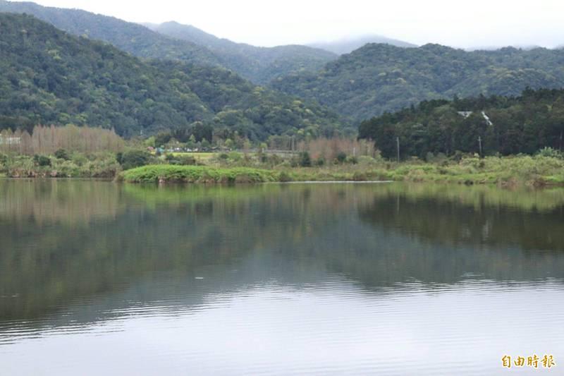 雙連埤位於員山鄉湖西村,居民以客家人為主,因生態多樣性高,與附近的福山植物園有「台灣亞馬遜」的美稱。(記者林敬倫攝)
