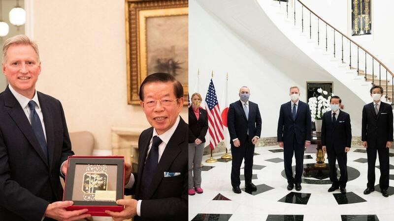 美國駐日代理大使楊舟(Joseph M. Young)今貼照推文表示,本週邀請了台北駐日經濟文化代表處代表謝長廷至大使官邸交流。(圖翻攝自推特)