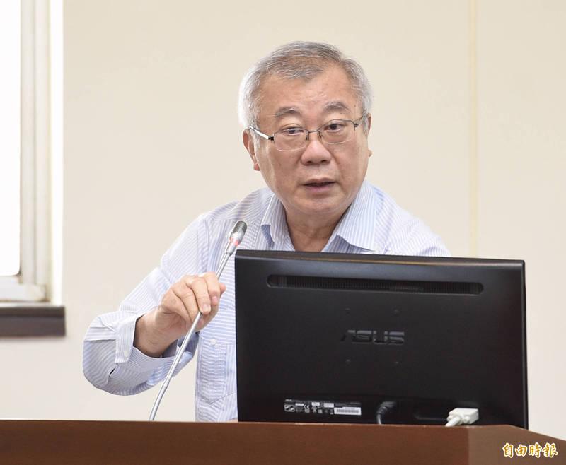 前農委會主委陳保基(見圖)要陳亭妃拿出證據再來指控。。(資料照)