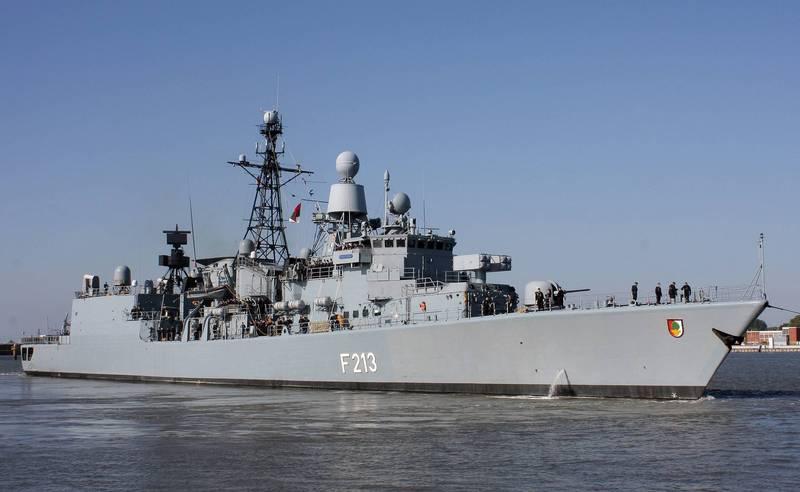 對於德國軍艦將行經南海,美國表示歡迎,中方則說不能拿航行自由當作危害週邊國家主權的藉口。圖為德國不萊梅級護衛艦「奧古斯堡號」。(歐新社)