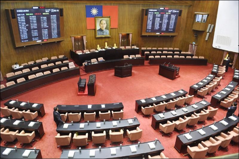 立法院下週一舉行各委員會召委選舉,各黨團昨敲定委員會名單。(資料照)