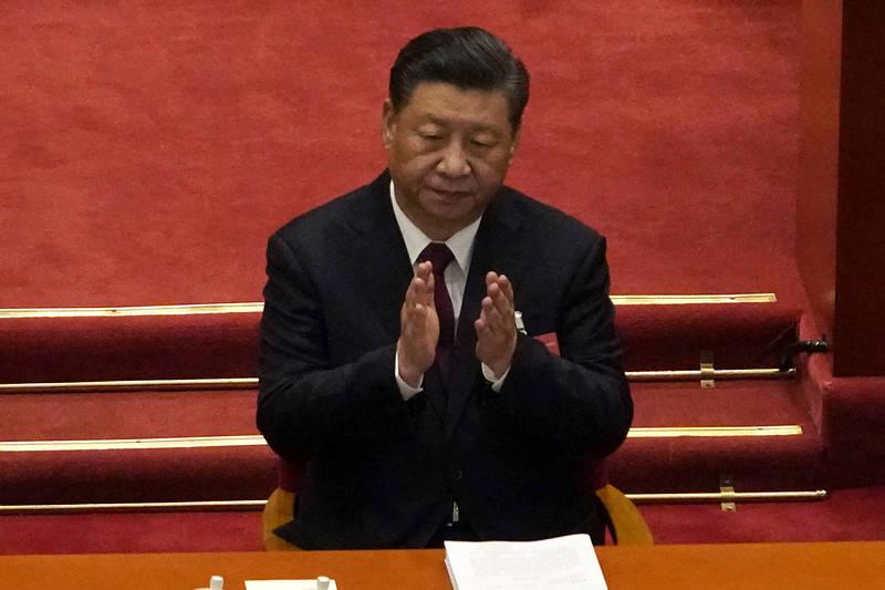 因應美國拜登政府跟隨前朝川普政府腳步持續重視台灣,日本國會有成員認為,「中國對台灣施加的壓力也可能影響日本的國家安全」。圖為中國領導人習近平。(美聯社)