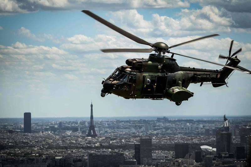 土耳其一架載有13名官兵的歐直AS532美洲獅直升機,4日下午墜毀。歐直AS532美洲獅直升機示意圖,與本新聞無關。(法新社)