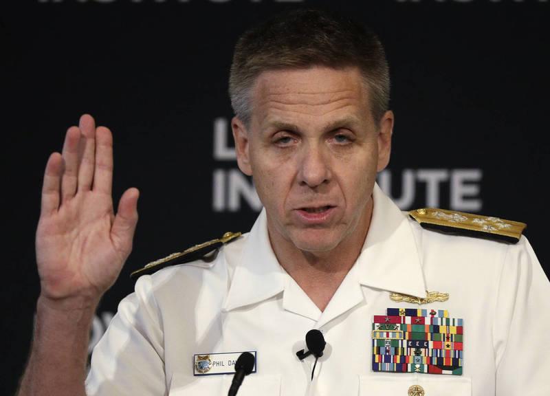 美軍印太司令部司令戴維森(Philip Davidson)4日表示,拜登政府應該大力向台灣出售武器。(美聯社資料照)