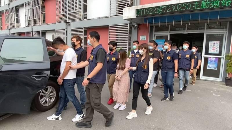 警破獲暴力討債集團,逮捕11成員。(警方提供)