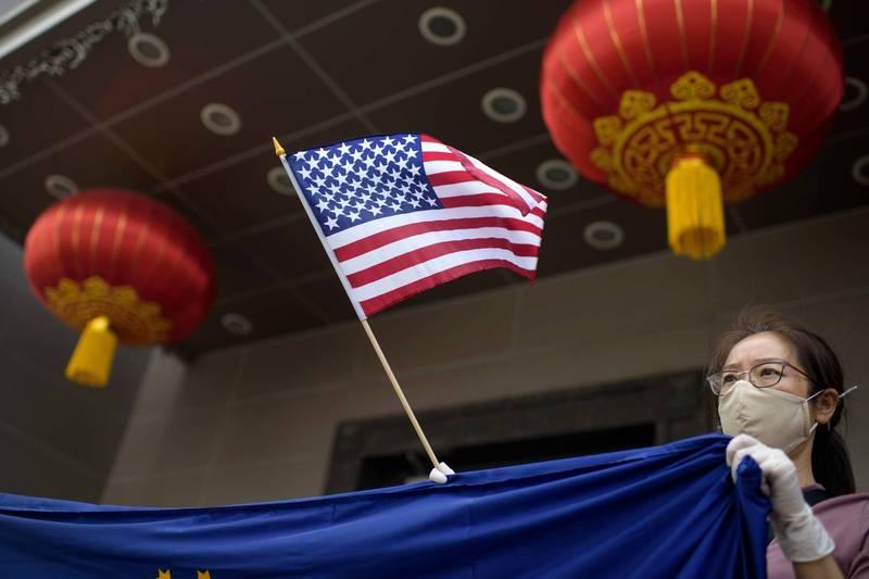 美國國會參院通過加強管控中國「孔子學院」的新法案。圖為中國駐美國德州休士頓總領事館。(法新社檔案照)