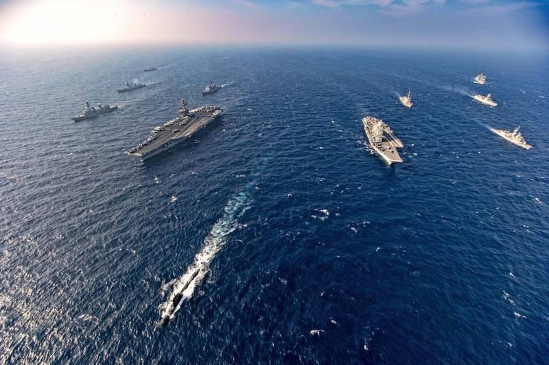 若中國武力侵台,美國的態度將會決定印太各國支援台灣的意願及力度。(示意圖,美聯社)