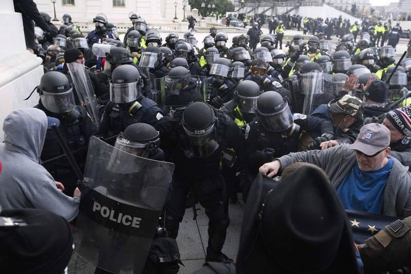 美國會大廈1月發生入侵案,川普國務院前幕僚柯連遭起訴,被控涉嫌參加暴動。(美聯社)