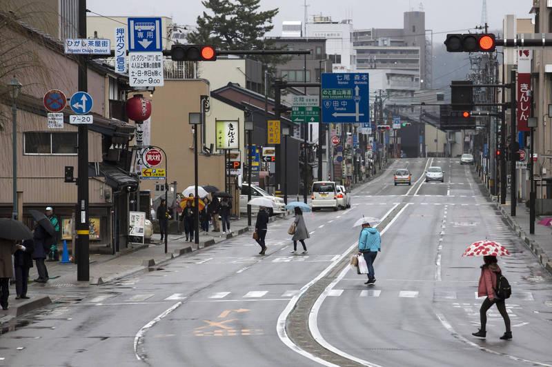 日本5日新增1149例確診、55例死亡。圖為石川縣金澤市一景。(彭博)