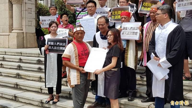布農族獵人王光祿赴司法院聲請釋憲。(資料照)