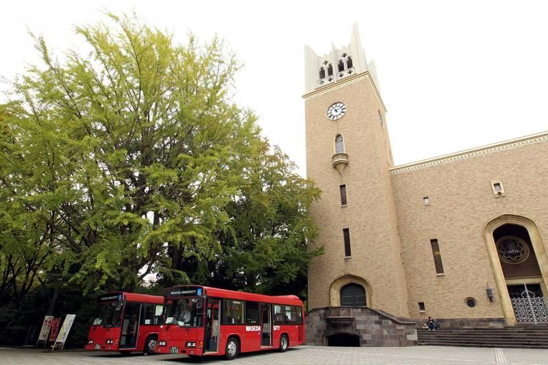 日本早稻田大學生涉嫌介紹15歲女高中生給男性啪啪啪,今(6日)被東京警視廳目白警察署逮捕。早稻田大學校園示意圖。(彭博)