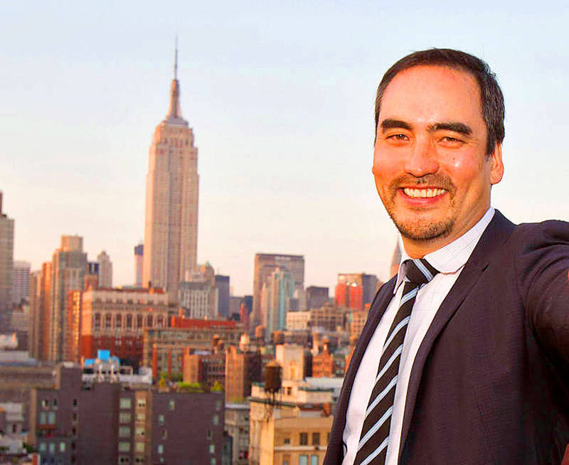 Second-generation Taiwanese-American Tim Wu poses in an undated photograph. Photo: AP