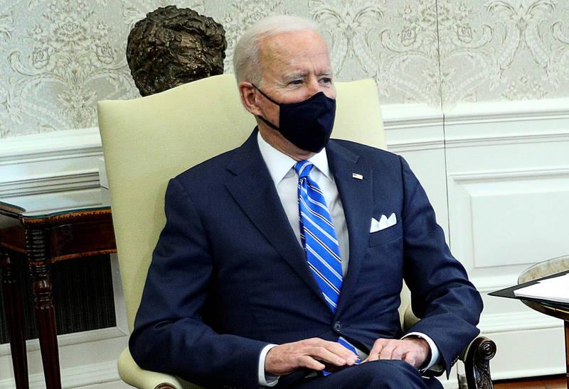 美國總統拜登當地時間4日同兩黨眾議員會面超過1個半小時,協商關於華府打算大幅增加支出,以重新恢復美國基礎建設的計畫。(路透資料照)