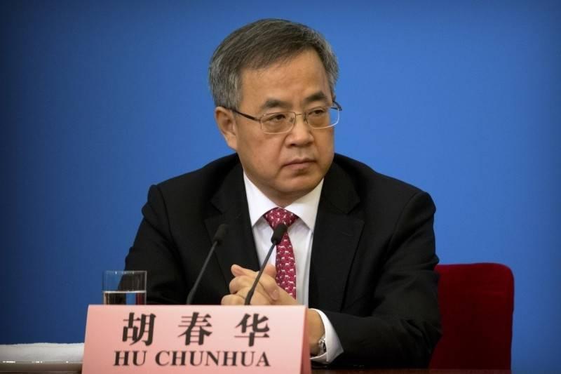中國國務院副總理胡春華。(美聯社資料照)