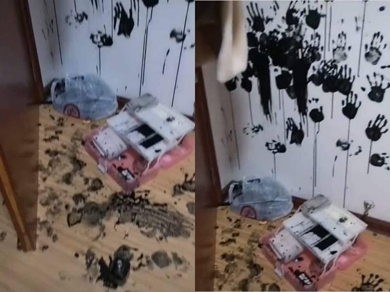 原PO貼出女兒弄出的「案發現場」照。(圖取自臉書社團「爆廢公社二館」)