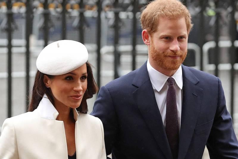 梅根與哈利王子接受歐普拉專訪,梅根提及她有段時間曾有輕生念頭。(法新社)