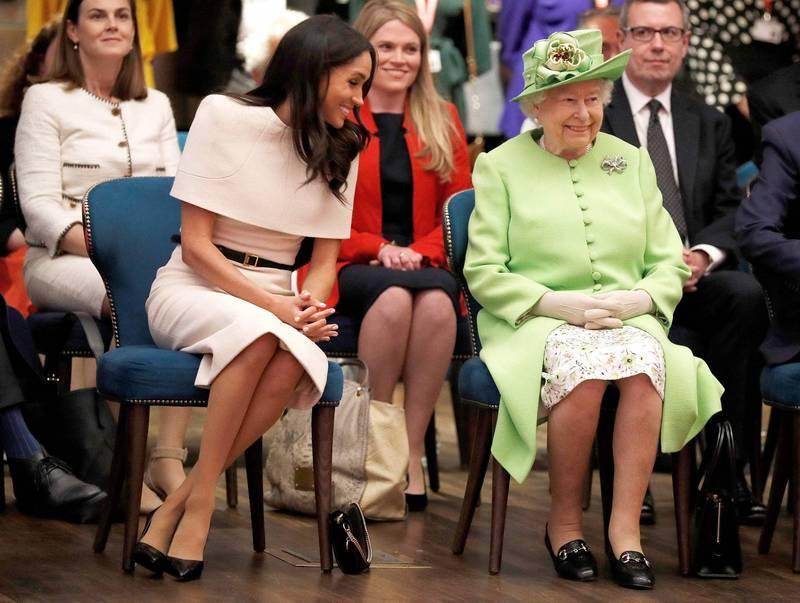 梅根表示女王向來熱情且十分好客。(法新社)
