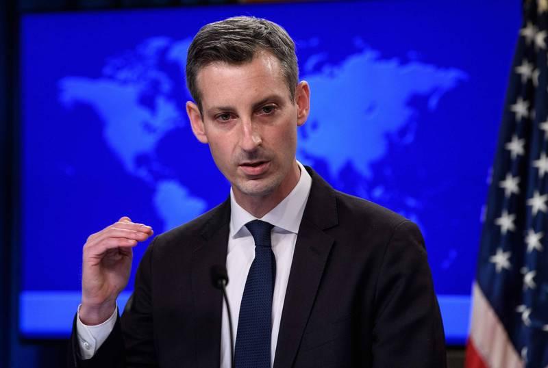 美國務院發言人普萊斯(Ned Price)於例行記者會指出,中國在新疆境內實行了「種族滅絕行動」,罕見認同川普前政府所做的認定。(法新社)