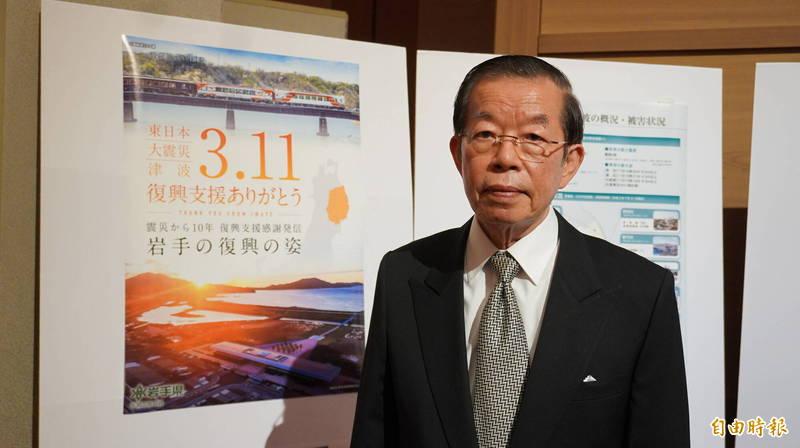 駐日代表謝長廷(見圖)今天談及日本5縣食品進口管制一事時表示,台灣會以科學為根據,如果有輻射污染那就是「核食」,如果沒有污染就是「福食」。(記者林翠儀攝)