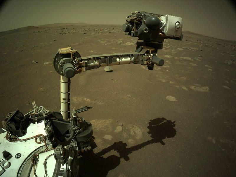 「毅力號」的超級相機又錄下幾段火星新聲音。(歐新社)